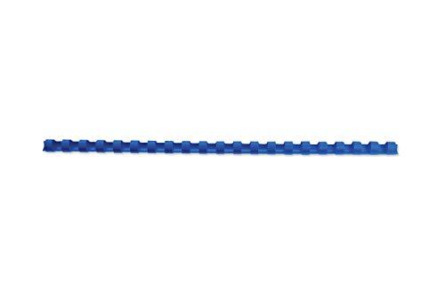 GBC Anelli Plastici CombBind, 10 mm, 65 Fogli di Capacità, A4, 21 Anelli, Blu, Confezione da 100, 4028235