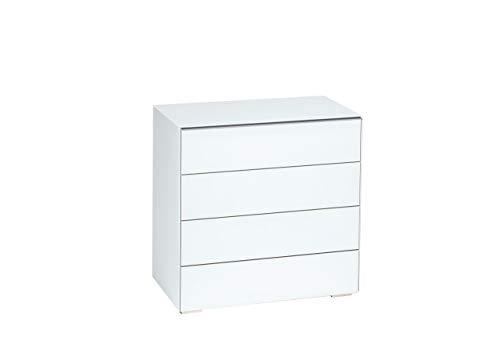 MAJA Möbel Best 7212 Kommode Weißglas matt, Abmessungen (BxHxT): 80,20 x 79,40 x 46,20 cm, Glas, 20 x 46,20 x 79,40 cm