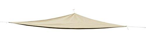 Toldo parasol triangular (3 x 3 x 3 m), cortavientos, impermeable, incluye cuerdas de sujeción, color beige