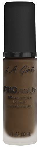 L.A Girl Pro Color and Pro Matte Foundation, Chestnut, 30ml