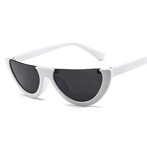 Único Gafas de Sol Sunglasses Gafas De Sol Pequeñas con Montura De Ojo De Gato para Mujer Uv400 Blanco Vintage Gafas De