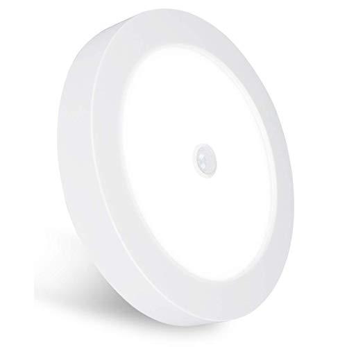 REYLAX® PIR Plafón LED, Con Sensor de Movimiento, Tres Temperaturas de Colors Preestablecidas Opcionales 18W 1600lm, Superficial Montaje, Driver Integrado Incorporado y Sensor de Luz