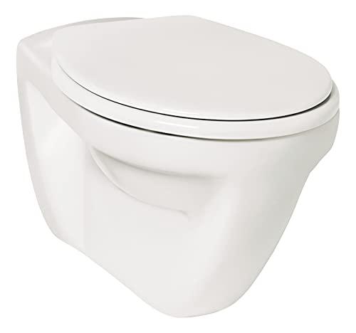 'aquaSu® Wand-WC | Flachspüler | Hängetoilette | Keramik | Weiß