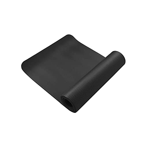 TYUTYU Mat de Yoga Anti-lágrimas Antideslizantes Antideslizantes ecológicos NBR Mat Ejercicio para Pilates Entrenamiento de Fitness (Color : Black, Size : 50 * 90cm)