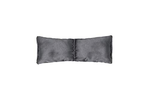 Clocktower Fitness Small and Ultralight Eye Pillow (6 x 2.5 in), for Yoga, Meditation, Relaxation, and Relief - Unscented (Gray)
