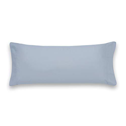 Sancarlos Básicos, Funda de Almohada Lisa, Algodón 100%, Color Azul, Cama de 90