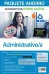 Paquete Ahorro Administrativo/a del Ayuntamiento de Vitoria-Gasteiz. Ahorra 49 € (incluye Temario General y test; Temario Específico volúmenes 1 y 2; ... Específico; acceso gratis a Curso Oro)