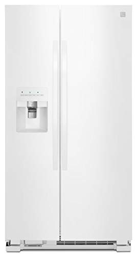 Kenmore 50042 25 cu. ft. Side-by-Side Refrigerator with Ice & Water Dispenser - White
