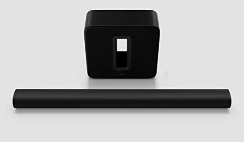 Sonos Arc Set | Soundbar + Sub, schwarz – Elegante Premium Soundbar für mitreißenden Kino Sound – Mit Dolby Atmos, Apple AirPlay2, Sprachsteuerung - inkl. Sonos Sub