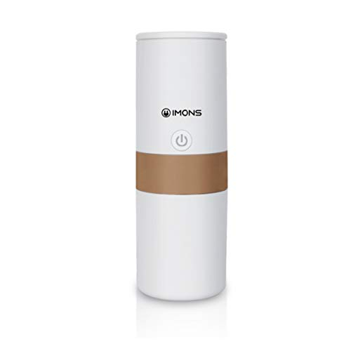Imons Automatic Mini Portable Drip Car Use Coffee Machine Make Coffee and Tea use K Capsule, DIY Ground Coffee or Tea Can Heat Water, Car Drive Mode, Double Walls Stainless Cup
