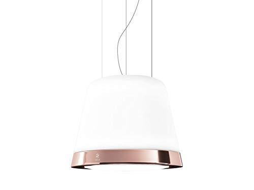 Elica PRF0120792 - Campana (400 m³/h, Recirculación, 53 dB, Decorativa, Cobre, Metálico, Cobre, Vidrio)