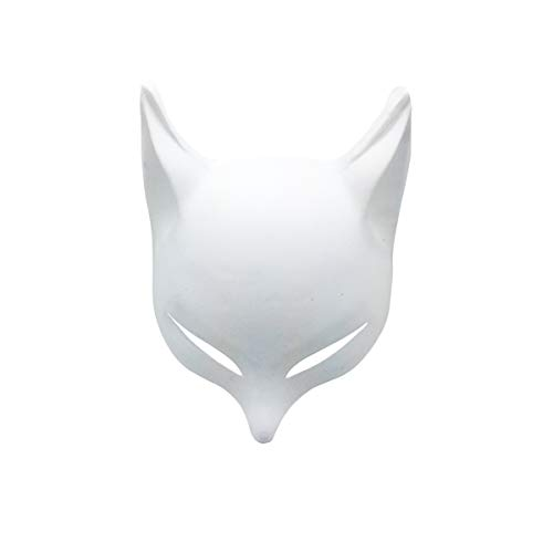 YangYong Large Fox Mask for Adults and Kids, Japanese Kabuki Kitsune Masks for Men Women Cosplay (Wh - http://coolthings.us