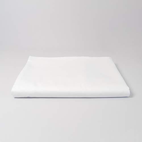 cloudlinen Spannbettlaken aus 100% Extra-Langstapeliger Premium Baumwolle - 160 x 200 cm - weiß einfarbig/unifarben - kuscheliger, Warmer und weicher Mako Satin