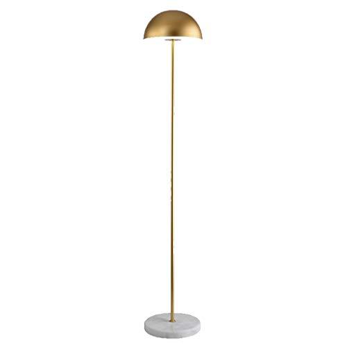 Jiji staande lamp, modern, eenvoudig, woonkamer, vloerlamp voor slaapkamer, nacht, Nordic Creative LED, goudkleurig, etui, licht vloer, leeslamp, permanent, staande lamp, woonkamer