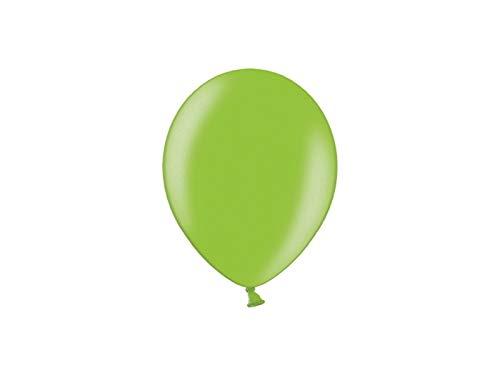 Les Colis Noirs LCN - Lot de 20 Ballon Métallique 27cm - Vert Clair - Décoration Fête Mariage - 540
