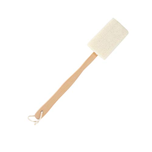 Healifty Body Brush with Wood Long Handle Shower Brush Loofah Exfoliating Brush Bathing Brushes Wash Bath for Bathroom Home Body Scrubing Tool
