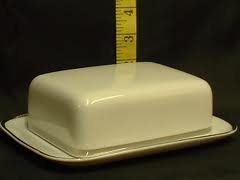 THOMAS CHINA 4MM WIDE PLATINUM 798 - COVERED BUTTER DISH - NEW -