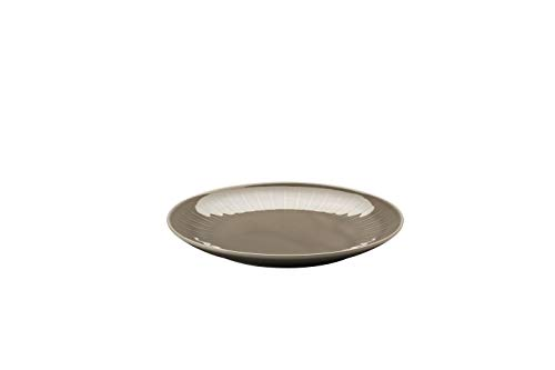 Arzberg Joyn Grey 20 cm bord plat, porselein, grijs, 20 x 20 x 6 cm
