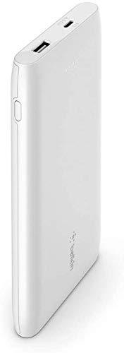 Belkin Boost Charge USB-CPD-Powerbank 10K (portables Ladegerät zum Schnellladen mit USB-C- und USB-A-Anschluss, 10.000mAh Kapazität, Akkupack für iPhone und andere Geräte, etwa von Samsung)– Weiß