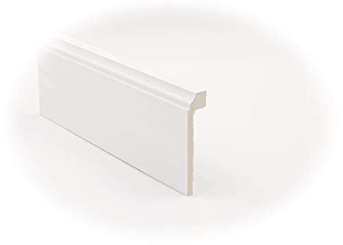 Cubre Zócalo-Rodapié Blanco de PVC hidrófugo, 10cm de alto y 220 de largo