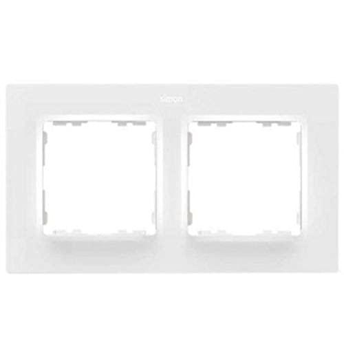 Marco para 2 elementos, serie 82 Concept, 1 x 12,5 x 8 centímetros, color blanco mate (referencia: 8200627-090)