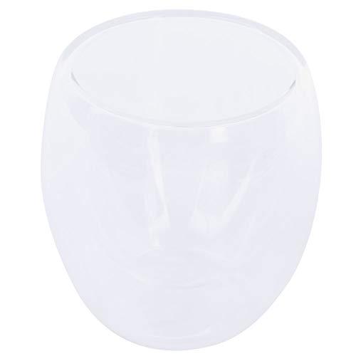 Vasos de Doble Pared de 80 ml Tazas Café, Tazas Vidrio de Agua Transparentes Dobles Resistentes al Calor para Postre de Jugo de Leche Cappuccino Latte Y Más Bebidas Calientes O Frías