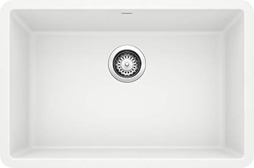 BLANCO 522429 Precis 27' Single Bowl-White Sink, 26.81' L X 17.75' W for 30' Cabinet