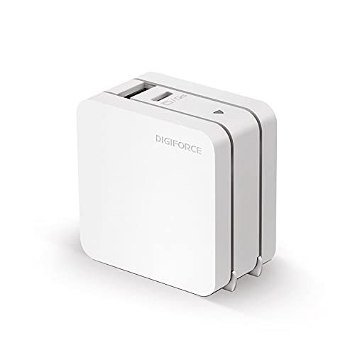 DIGIFORCE PD 急速 充電器 65W Type-C GaN 窒化ガリウム USB-A USB-C 2ポート 折畳式 acアダプター for iPhone13 Pro/MacBook ノートパソコン 充電器 ホワイト
