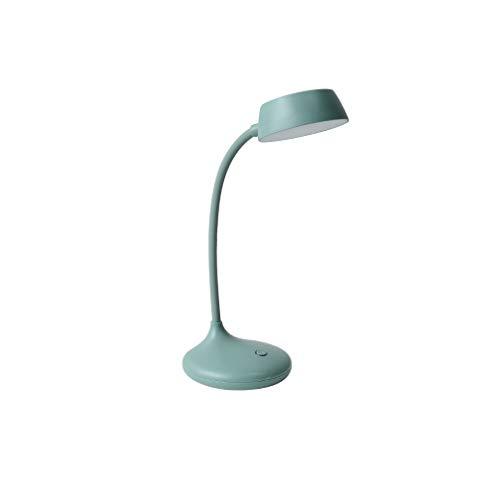 SPNEC Nórdica Estilo USB lámpara Recargable Estudio Interruptor táctil Moderna LED lámpara de Mesa Flexible for Modos Estudiante 3 Lectura luz del Escritorio (Color : A)