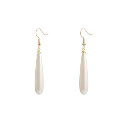 Drop Earrings For Women 2021 New Trend Simulation Pearl Women S Long Earrings Drop-Shaped Pearl Earrings Wedding Pendant Earrings Fashion Jewelry