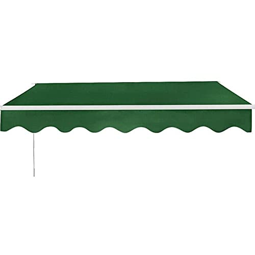Manual retráctil sol sombra de talla múltiple DIY Patio plegable Toldo con accesorios y mango de manivela Cabelle Tarjetas al aire libre para Gazebo Garden Balcony Restaurant ( Size : 6 x 3.5m )