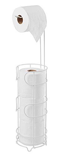 simplywire - Free Standing Porte-rouleau de papier toilette papier de soie de salle de bain - Meuble de rangement - Blanc