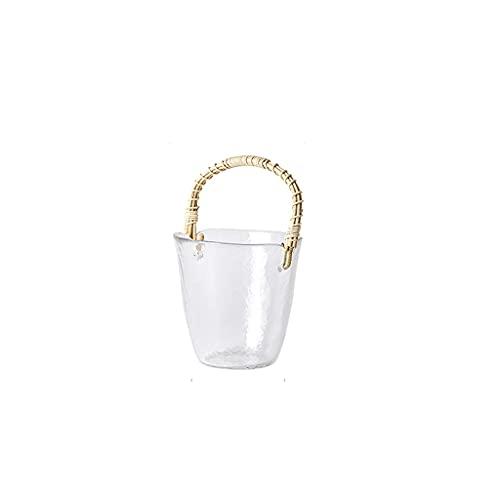 Benna di ghiaccio portatile di vetro di vetro di vetro di vetro di alta qualità secchio di ghiaccio della famiglia secchio del ghiaccio utilizzato per i cubetti di ghiaccio Birra e bottiglie di champa