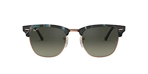 Ray-Ban Herren Sonnenbrille 0RB3016, Grün (Spotted Grey/Green), 51
