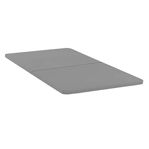 Spinal Solution Wood Split Bunkie Board/Slats,Mattress Bed Support,Fits Standard Twin Size (2 Halves Included), Grey