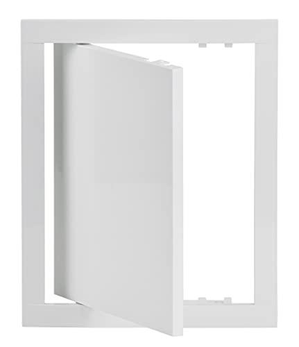 20x25 cm Revisionsklappe Weiß Revisionstür Wartungsklappe Inspektionsklappe aus Kunststoff (200x250 mm)