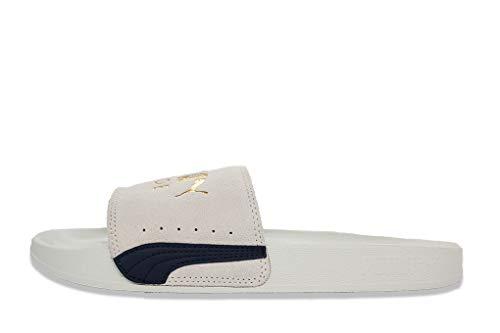 Puma Unisex-Erwachsene Leadcat FTR Suede Classic Zapatos de Playa y Piscina, Weiß (Marshmallow Team Gold Black), 42 EU
