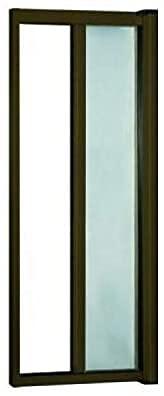 Zanzariera a rullo in alluminio per porte/balconi con profilo riducibile/regolabile avvolgimento orizzontale (150x250cm, Marrone)