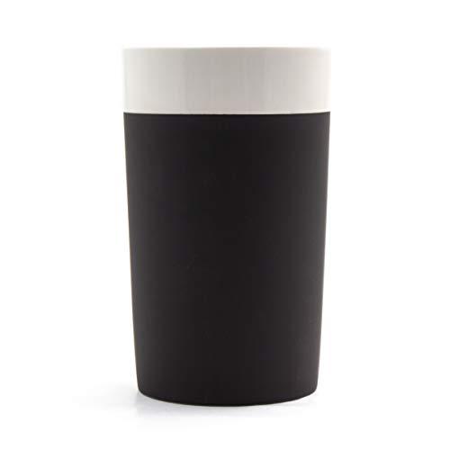 Magisso Selbst abkühlende Flaschenkühler, Keramik, schwarz/weiß, 13 x 13 x 20.8 cm
