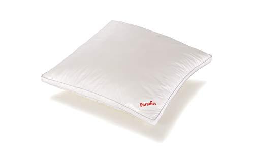 PARADIES Kissen 80x80 cm Softy fest Bio, Öko-Tex Zertifiziert Standard 100 Klasse 1, medizinisch getestet, Kopfkissen mit Reißverschluss