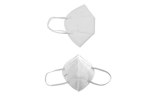 Mascarilla Higiénica Plus Protección Bidireccional - Blanca 5 Unidades - Fabricada...