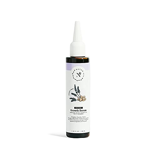 NaturAll Original Jamaican Black Castor Oil Growth Serum with Lavender | 100% Natural | For Dry, Curly, Coily, Natural Hair | 3.38 oz