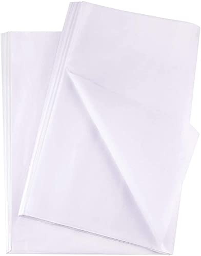 Plum Designs Quality White Tissue Paper | 20 x 20 inches | 100 Sheets |Great For Gift Wrapping | Gift Bag Filler | Packing Paper | DIY Arts and Crafts|