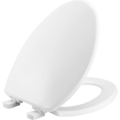 BEMIS 7300SLEC 000 Toilet Seat will Slow Close and Removes Easy for Cleaning, ELONGATED, White