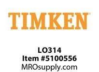 Timken LO314 Labyrinth Dichtung mit O-Ring für 314 Kugelrollenlager