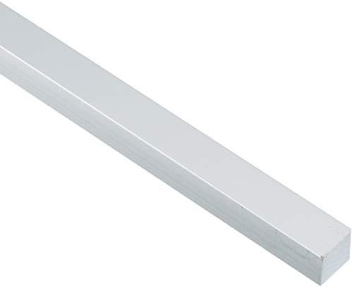GAH-Alberts 473235 Vierkantstange - Aluminium, silberfarbig eloxiert, 1000 x 16 x 16 mm