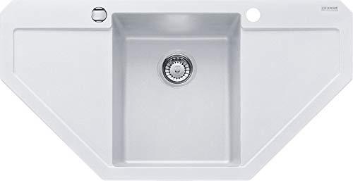 Franke Maris MRG 612-E Glacier Granit-Spüle Weiß Eckspüle Küchenspüle Spültisch