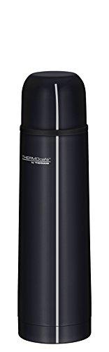 ThermoCafé by THERMOS 4058.233.050 Thermosflasche Everyday, Edelstahl Schwarz 0,5 l, Drehverschluss mit Trinkbecher, BPA-Free