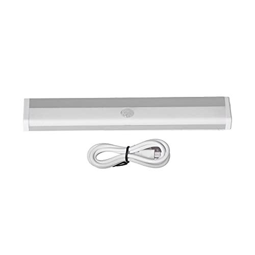 Luce con sensore di movimento a LED, luce portatile per armadio a 2 marce Luce per cassetto di ricarica USB per camera da letto con cucina libreria(Luce calda)