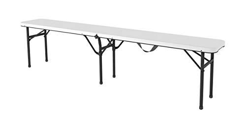 Gardiun NT1830 - Banco plegable portátil Koln 180 183x28x44,3 cm